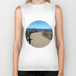 Footprints to the Beach Biker Tank