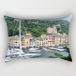 Portofino Harbour Italy Rectangular Pillow