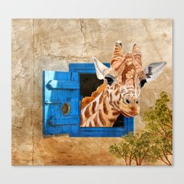 Suddenly A Giraffe Canvas Print