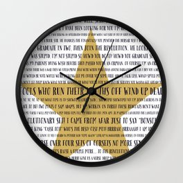 Aaron Burr, Sir Hamilton Musical Wall Clock