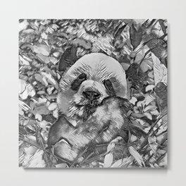 AnimalArtBW_Panda_20170812_by_JAMColorsSpecial Metal Print
