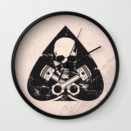 Grunge ace of spades Wall Clock