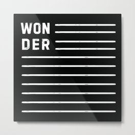 WONDER STRIPES (black) Metal Print