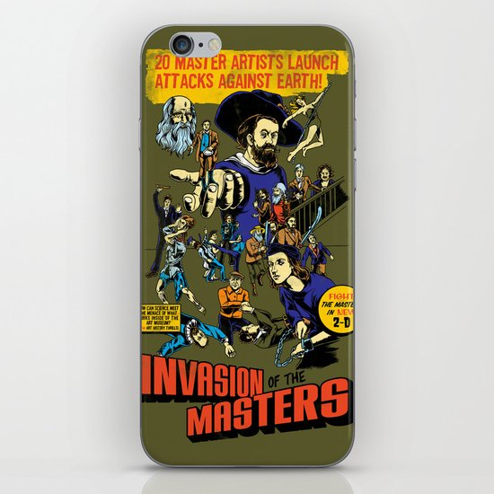 Invasion of the Masters! iPhone & iPod Skin
