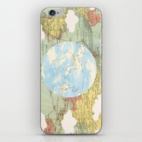 world maps iPhone & iPod Skins featuring Off The Maps by Grace M