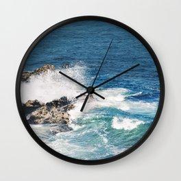 Maine Waves Wall Clock