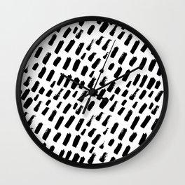 Dashing Darling - Black and White Wall Clock