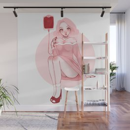 Pink pin up Wall Mural