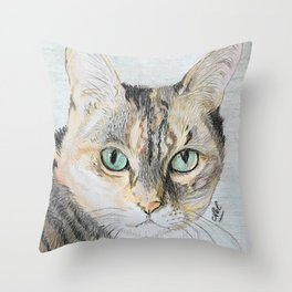 Cookie the cat Throw Pillow