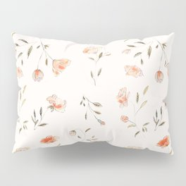 Watercolor Floral Pattern Pillow Sham