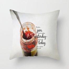 Jam Alice Wonderland Throw Pillow