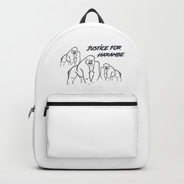 Justice for Harambe Backpack