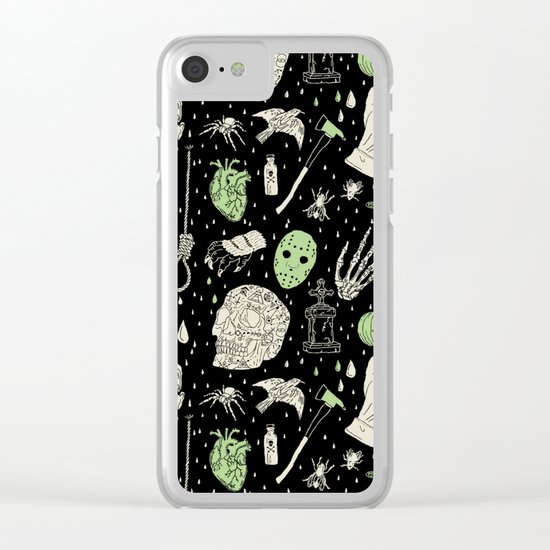 Whole Lot More Horror: BLK Ed. Clear iPhone Case