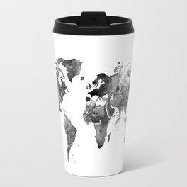 World map, Black and white world map Travel Mug