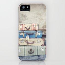 Vintage Suitcases iPhone Case