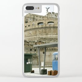 Castel Sant Angelo between past and present in color Clear iPhone Case