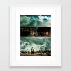 Take shelter Framed Art Print