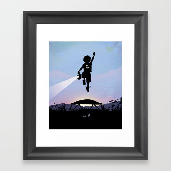 Green Lantern Kid Framed Art Print