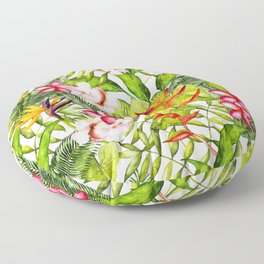 My Aloha Tropical Flower Hibiscus Garden Floor Pillow
