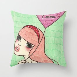 Balloon Girl 1 Throw Pillow
