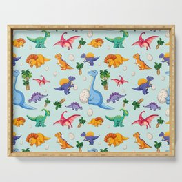 Colorful Cute Dinosaur Pattern Serving Tray