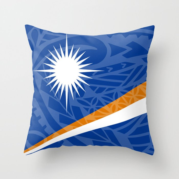 Marshall Islands Flag Island Style Throw Pillow by ... b6c8a5c5d
