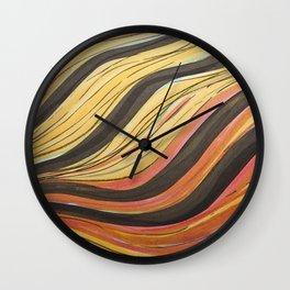 Ink & Charcoal #5 Wall Clock