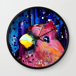 Redbird Christmas Wall Clock