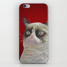 Grumpy Red iPhone & iPod Skin