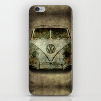 vw bus iPhone & iPod Skins featuring VW Micro Bus  by BruceStanfieldArtist illustrator
