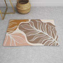 Organic Shapes & Palm Leaves Rug