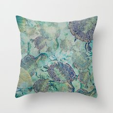Watery Whimsy Throw Pillow