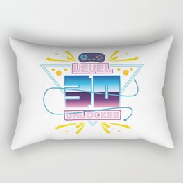 Level Up Typical Gamer Gaming Nerdy 40 Player Gift Rectangular Pillow