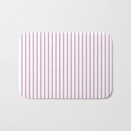 Princess Pink Pinstripe on White Bath Mat