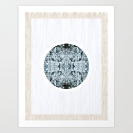 Symmetrical Iceberg Planet Art Print