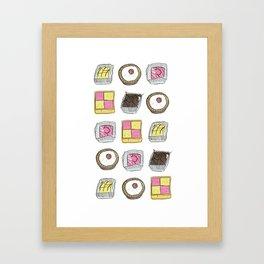 A TASTE OF CHILDHOOD: CAKES Framed Art Print