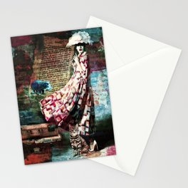 Cat, Woman and Hat Stationery Cards
