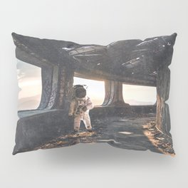 Astronaut in an Abandoned Building Pillow Sham
