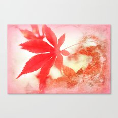 Red Leave Canvas Print
