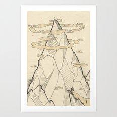 Ray Hope Mountain Art Print