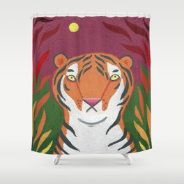 Fire Tiger Shower Curtain