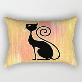 Black Cat Vintage Style Design Rectangular Pillow
