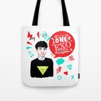 exo Tote Bags featuring EXO WE ARE ONE! D.O Version by Haneul Home