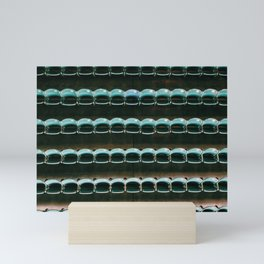 empty seats at wrigley Mini Art Print