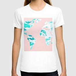 Ocean World Map Sea Dreams T-shirt