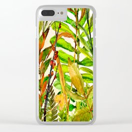 Woodland Meadow 1 Clear iPhone Case