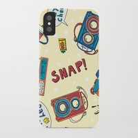 cameras iPhone & iPod Cases featuring Cameras by Claire Lordon