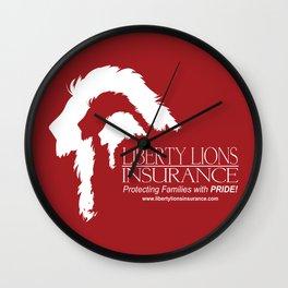 Liberty Lion Insurance Logo Wall Clock