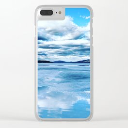Reflection in Frozen Lake George Clear iPhone Case