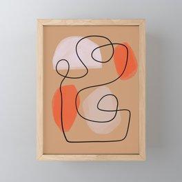 Mid-Century Line Modern Art # 63 Framed Mini Art Print